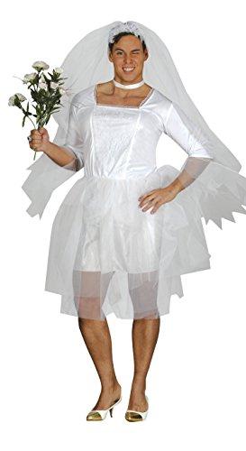 Guirca- Disfraz adulto novia hombre, Talla 52-54 (84395.0)