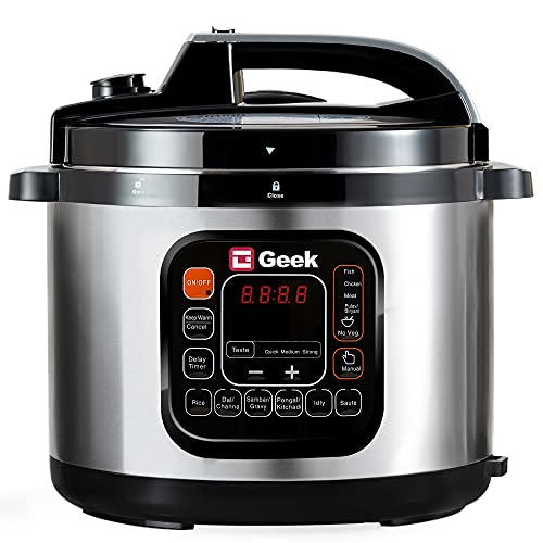 Geek Robocook Zeta 5 liter Electric Pressure Cooker with SS Pot, Black