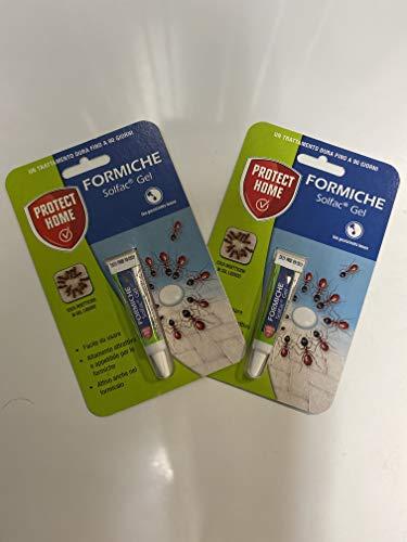 GEL Protec Home Solfac formiche Esca attrattiva in tubetto pronta all'Uso, Neutro, 4 gr Offerta per 2 Pezzi