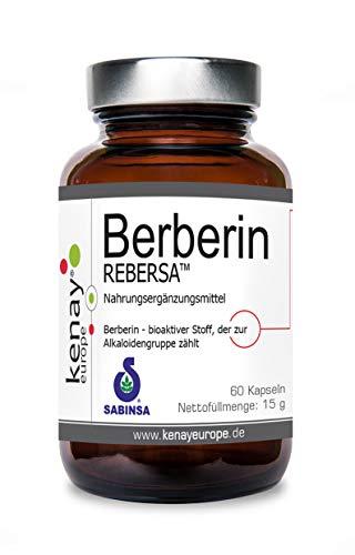 Berberin HCL REBERSA (Berberis aristata) - 500mg pro Tagesdosis - Vegan - Ohne Magnesiumstearat - 60 Kapseln KENAY EUROPE
