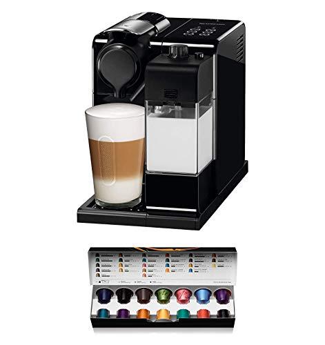 Nespresso De'Longhi Lattisima Touch Animation EN560.B - Cafetera monodosis de cápsulas Nespresso con depósito de leche, 6 recetas seleccionables, 19 bares, apagado automático, color negro