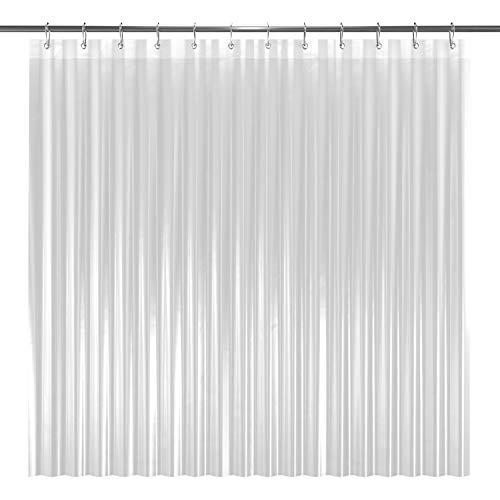 LiBa PEVA 8G Shower Curtain Liner, 72' W x 72' H, Clear 8G Heavy Duty...