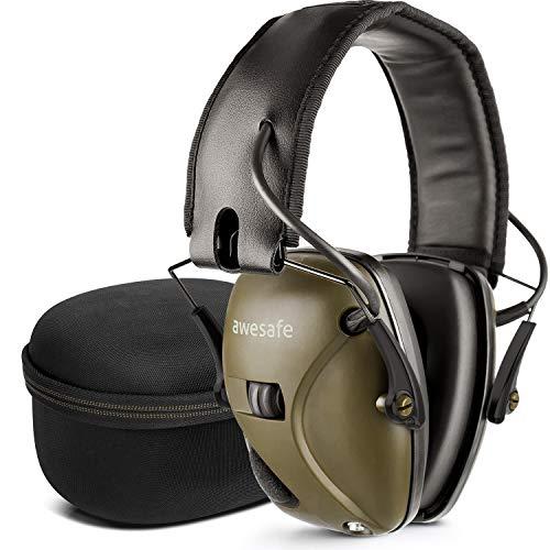awesafe GF01+ Réduction du bruit Maximiser le son Sécurité électronique Casque antibruit, Protection de l'ouïe, Idéal pour le tir et la chasse,...