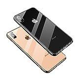 【SUMart】 iPhone X ケース ガラスケース 強化ガラスケース レンズ保護 耐衝撃 極薄 耐久 ハ……