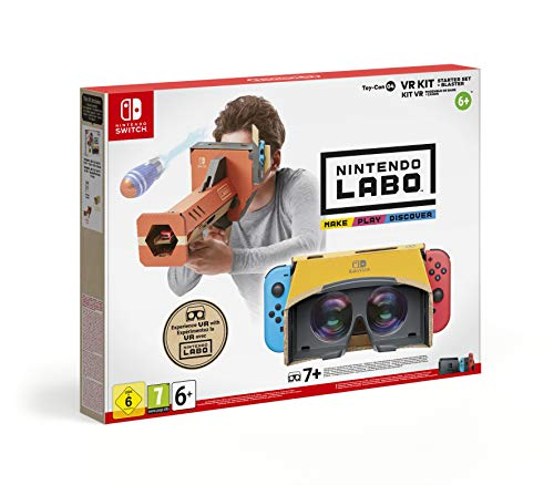 Nintendo Labo VR Kit Starter Set + Blaster Establecer - Accesorios y piezas de videoconsolas (Establecer, Nintendo Switch, Multicolor, Caja de cartón, Estampado de dibujos, Nintendo)