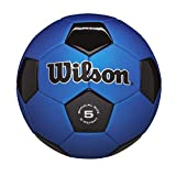 Wilson Traditional Soccer Ball - Blue/Black, Size 4 (Sports)
