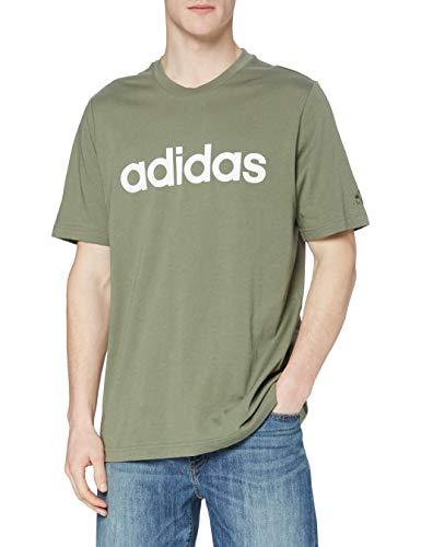 adidas GL0059 M Lin SJ T T-Shirt Uomo Legacy Green S