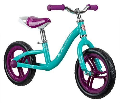 Schwinn Elm Girls Bike for Toddlers and Kids, 12-Inch Balance Bike, Teal