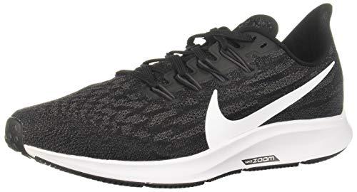 Nike Air Zoom Pegasus 36 Women's Running Shoe Black/White-Thunder Grey Size 7.5