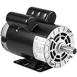 Mophorn 5HP Electric Compressor Motor, 3450RPM 143T/56 Frame Single Phase 7/8' Shaft Diameter Air Compressor Motor 208-230V 60Hz AC Electric Motor
