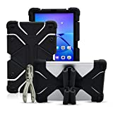 Golden Sheeps Shockproof Silicone Protective Stand Universal 10 inch Tablet Case Compatible for Dragon Touch X10 10.6 inch,10.1 inch,V10 10 inch,ASUS ZenPad 3S 10 9.7',ZenPad 10 10.1-inch (Black)