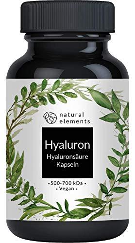 Hyaluronsäure Kapseln - Hochdosiert mit 500mg - 500-700 kDa - 90 Kapseln - Laborgeprüft und vegan