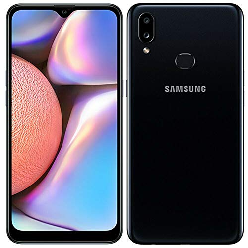 Samsung Galaxy A10s with Fingerprint (32GB, 2GB RAM) 6.2', Android 9.0, Dual SIM GSM Factory Unlocked A107M/DS - US + Global 4G LTE International Model (Black, 32GB + 64GB SD Bundle)