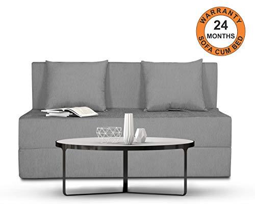 Adorn India Easy Single Seater Sofa Cum Bed Alyn 4'x 6' (Grey)