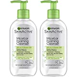 Garnier SkinActive Micellar Foaming Face Wash for Oily Skin,  6.7 Fl Oz (Packaging May Vary), Pack of 2