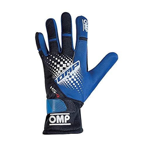 OMP 1596692 Guanti, Blu/Nero, L, Set di 2