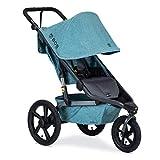 BOB Gear Alterrain Jogging Stroller   Quick Fold + Adjustable Handlebar + XL UPF 50+ Canopy, Melange Teal