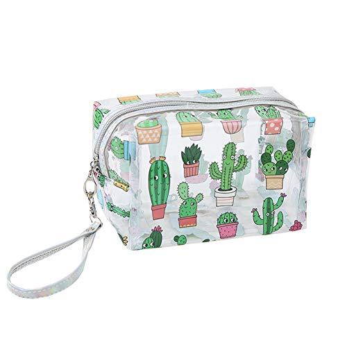 JooNeng - Borsetta trasparente per cosmetici, con cinghia da polso, borsetta e organizer per...