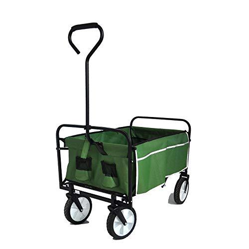 UTDKLPBXAQ Folding Wagon Garden Shopping Beach Cart Green...