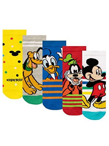 Disney Calzini Confezione da 5 per Ragazzi Mickey Mouse Multicolore 27-30
