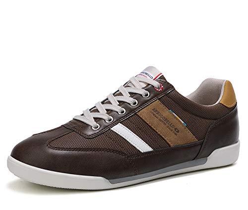 ARRIGO BELLO Zapatos Hombre Vestir Casual Zapatillas Deportivas Running Sneakers Corriendo Transpirable Tamaño 40-46 (42 EU, Marrón Oscuro)