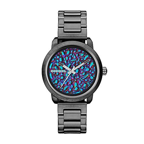 Diesel Damen Analog Quarz Uhr mit Edelstahl Armband DZ5428