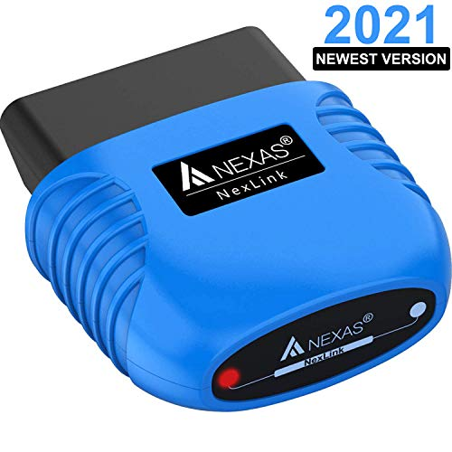 NEXAS Bluetooth 5.0 OBD2 Scanner Code Reader for iPhone Android Windows, Car and Motorcycles Diagnostic Scan Tool Check Engine Light Scanner for Vehicles