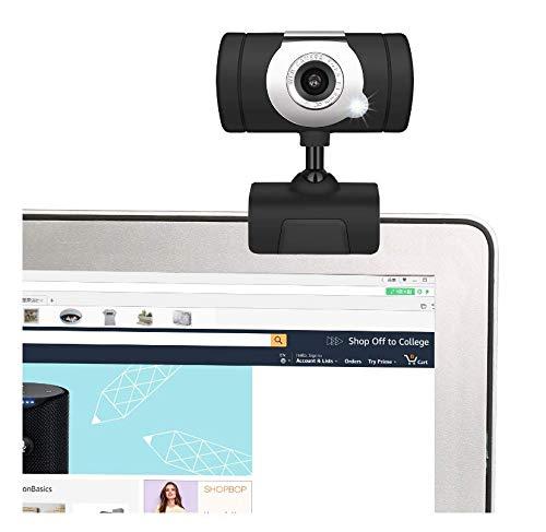 Videocamera HD Desktop USB del Computer Portatile Webcam Regolabile Angolo Web Cam con Microfono...