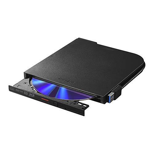BUFFALO USB3.2(Gen1)/3.0 ブルーレイドライブ 書込みソフト バスパワー(給電ケーブル付) 外付け 薄型ポー...