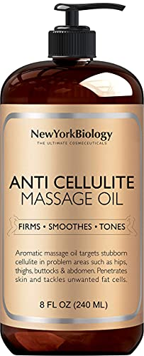 New York Biology Anti Cellulite Massage Oil 8 oz -...