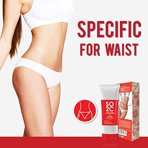 Anti Cellulite Remover Cream by SO2C | All-Natural Anti-Cellulite & Skin Firming, Tightening, Toning, Slimming & Thermogenic Cream | Tightening and Slimming for Hips, Waist and Abdomen | Set of 1 8