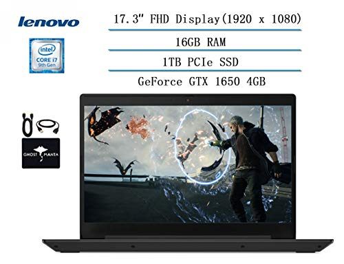 Lenovo IdeaPad L340 17.3 Full HD Gaming Laptop 2020 Newest, Intel core i7-9750H (up to 4.50 GHz, Beat i7-7500U), 16GB RAM, 1TB PCIe SSD, NVIDIA GeForce GTX 1650 4GB GDDR5, Win 10 w/HESVAP Accessories