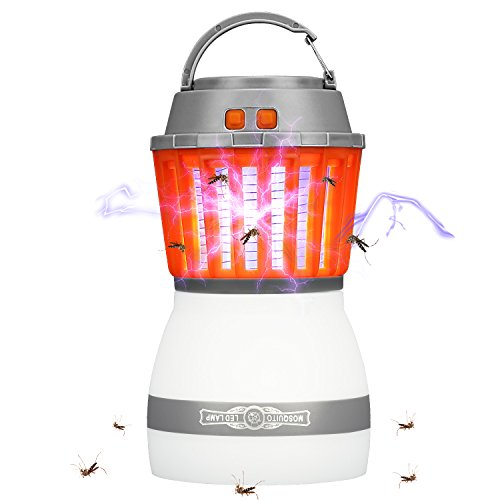 Rhino Valley Lampe Anti-Moustique, 2 en 1 LED UV Lampe de Camping...