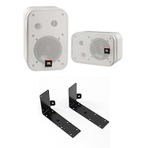 JBL PROFESSIONAL Control 1 PRO-WH 2Way フルレンジスピーカー ペア CTLB-1 壁・天井取付金具付きセット