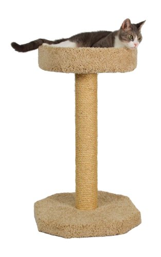 Molly and Friends 'Feline Recliner Premium Handmade One Tier Sisal Cat Scratching Post Furniture with Bed, Model Scr/b, Beige