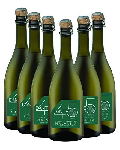 Malvasia Colli Piacentini Doc Secco Frizzante Dante 45 - confezione da 6 bottiglie