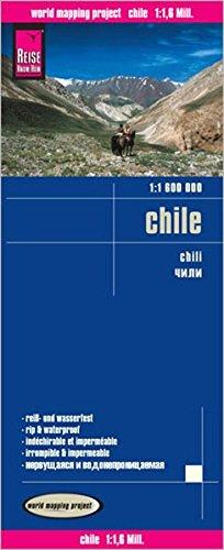 Chile, mapa de carreteras. Escala 1:1.600.000. Reise-Know-How. (116m)