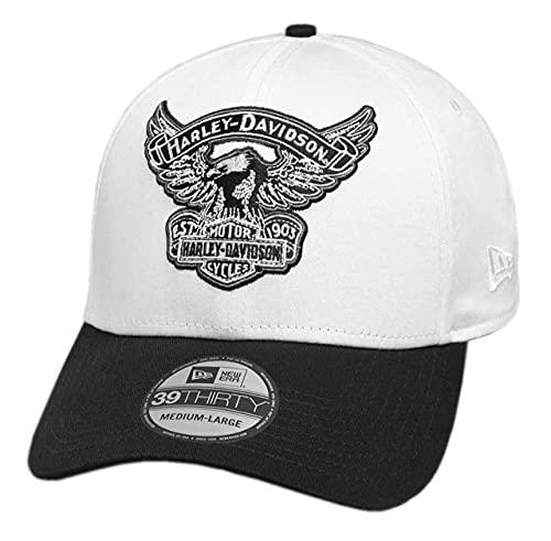 ハーレーダビッドソン メンズ刺繍イーグル39THIRTYキャップ メンズ ホワイト ファッション小物 帽子 キャップ 99427-18VM (S)