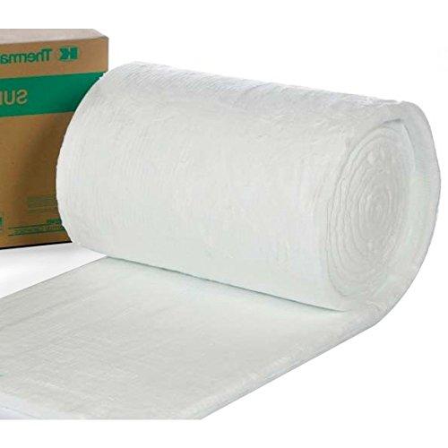 Materassino in fibra di ceramica, dimensioni di 25 x 1000 x 610 mm, densit di 96 kg per metro cubo