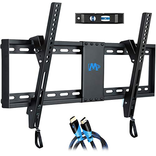 Mounting Dream Tilt TV Wall Mount Bracket for Most 37-70 Inches TVs, TV Mount with VESA up to 600x400mm, Fits 16', 18', 24' Studs and Loading Capacity 132 lbs, Low Profile and Space Saving MD2268-LK, UP to 600 VESA TV Wall Mount