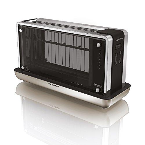 Morphy Richards Toaster Redefine 228000 transparent/schwarz/silbern, 1.5 liters