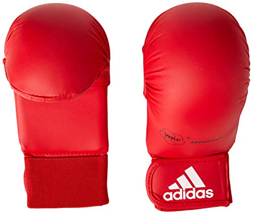 Adidas - Guanti Da Karate-Kumite/Fit-Boxe Omologati Wkf, Rosso, L