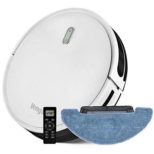 Venga! Robot Aspirateur, Laveur de sol, Facile à Utiliser, 6 Modes de Nettoyage, Silencieux, Blanc,...