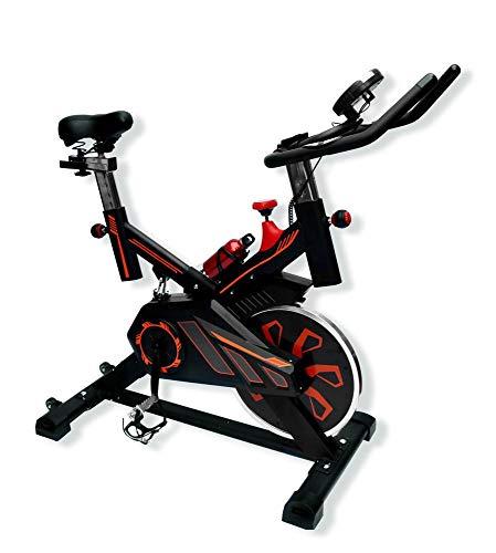 UrbanFit Pro Bicicleta Spinning Uso Rudo 18 Kilos Banda Profesional con agarres de frecuencia - Naranja