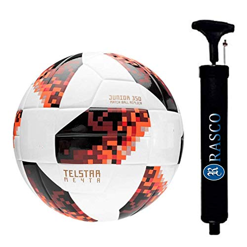 RASCO Combo TELSTAR Football with Air Pump, Size 5, (Red)