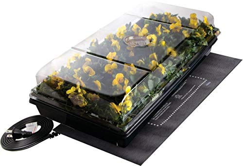Jump Start Germination Station w/Heat Mat, Tray, 72-Cell Pack, 2' Dome
