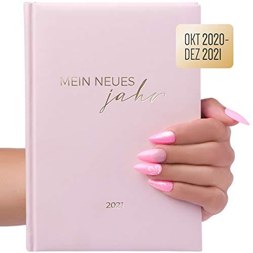 Terminplaner, Terminkalender Planer A5 Oktober 2020 – 2021 Dezember als Taschenkalender für Privat, Nagelstudio, Kosmetik. uvm mit Uhrzeit