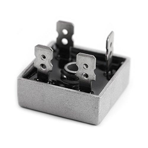 FTVOGUE 10 unids Puente Rectificadores KBPC5010 50A 1000 V Caja de Metal de Alta potencia Monofásico Diodo Módulo Puente Rectificador Módulo