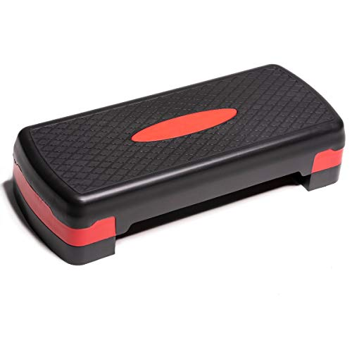 PRISP Step para Fitness 68 cm; Ajustable en 2 Alturas (10/15