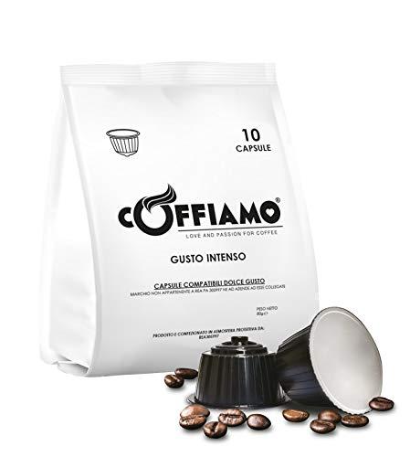 Caffè Coffiamo 100 Capsule Compatibili con Sistema Nescafè Dolce Gusto - Miscela Gusto Intenso